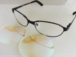 画像1: アイワールドセレクト 色弱レンズセット 度なし ZEAL ネオ イグナイト ブラックフレーム